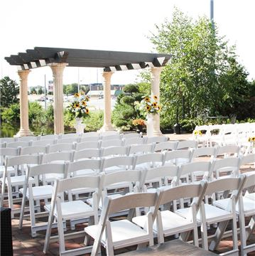 Outdoor Wedding Ceremony on The Patio